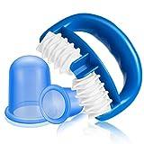 Funxim Kit de Masajeador Anticelulítico, Rodillo para Celulitis y Ventosas, Masaje de silicona Cupping Body Cup Masaje Roller Health Beauty Care para tratamiento y reducción de celulitis (3 set)