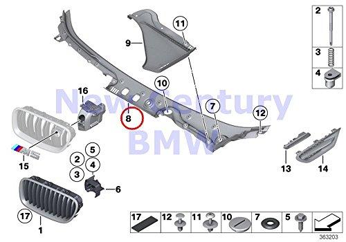 BMW Genuine Exterior Trim/Grill Trim Windshield Cowl Outer Windshield Cover 528i 528iX 535i 535iX 550i 550iX Hybrid 5 M5 528i 528iX 535d 535dX 535i 535iX 550i 550iX Hybrid 5