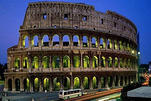 Jigsaw Puzzle 1000 piezas for adultos rompecabezas del rompecabezas 3D de madera clásico Coliseo de Roma, Italia Puzzle Educación de bricolaje regalos adolescentes juego