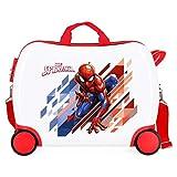 Marvel Spiderman Geo Maleta Infantil Rojo 50x38x20 cms Rígida ABS Cierre combinación 34L 2,3Kgs 4 Ruedas Equipaje de Mano