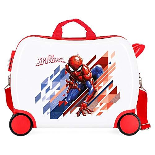 Marvel Spiderman Geo Maleta Infantil Rojo 50x38x20 cms Rígida ABS Cierre combinación...