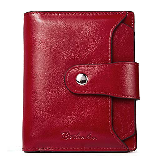 BOSTANTEN Women Leather Wallet RFID Blocking Small Bifold Zipper Pocket Wallet Card Case Purse with...