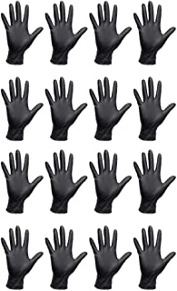 Lurrose 50pcs Disposable Gloves Safety Working Gloves for Food Handle or Industrial Use Black S