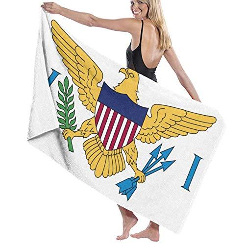 Olie Cam Bandera de Las Islas Vírgenes de los Estados Unidos Toallas de baño Toalla de Ducha de Moda Toalla de Playa con Personalidad Toalla de natación Secado Suave y rápido