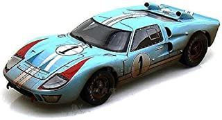Sc405bu Shelby - Ford Gt-40 Mk Ii Hard Top #1 w/ Dirt (1966, 1:18, Gulf Blue w/ White Stripes) Sc405 Diecast Car Model 1 1...