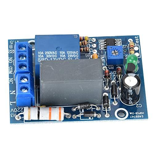 Mdulo de Rel de Temporizador Retardo Ajustable Interruptor de Apagado de Rel de Tiempo Retardo 10A 250V AC / 10A 30V DC (0 ~ 10Minutos)