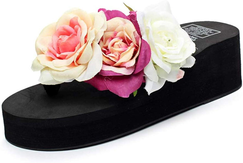 Toe Sandals Women Flip Flops Plain Bohemian Style Lightweight for Summer Walking, Travelling, Beach