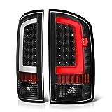 VIPMOTOZ OLED Neon Tube Tail Light Lamp For 2002-2006 Dodge RAM 1500 2500 3500 - Matte Black Housing, Driver & Passenger Side