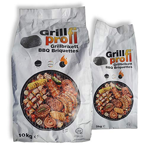 Grillprofi Premium Grillbriketts 29kg für Grillprofis Grillkohle Grill Brikett Kohle Holz Holzkohle für Kugel- & Holzkohlegrill bis 3,5 Stunden Grilldauer | 100% Made in Germany | Energie Kienbacher