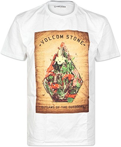 Volcom Nature Stone Basic SS T-Shirt Homme, Blanc (White), X-Small (Taille Fabricant: XS)