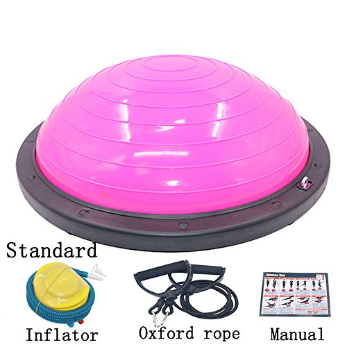 Fantastic Deal! WMNRNYD Half Ball Balance Trainer Anti-Slid Surface, with Resistance Bands and Foot ...