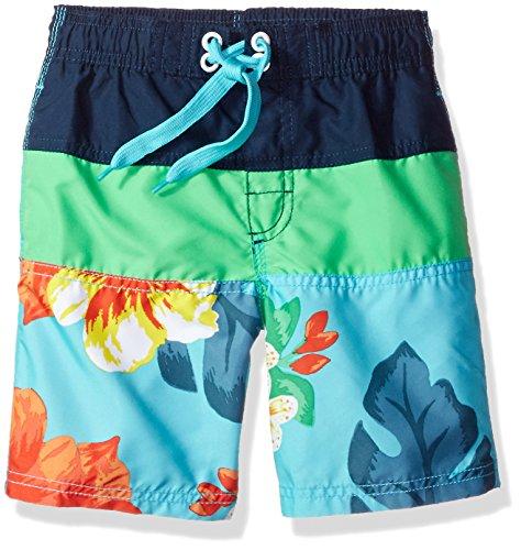 Kanu Surf Boys' Little Viper Quick Dry UPF 50+ Beach Swim Trunk, Koloa Aqua, 7