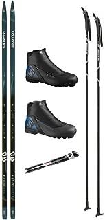 SALOMON Escape 5 Grip Cross Country Ski Package (Skis, Boots, Bindings, Poles)