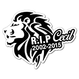 Cecil The Lion Rip Sticker Decal Funny Car Prank Laptop