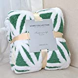 LOMAO Sherpa Fleece Blanket Fuzzy Soft Throw Blanket Dual Sided Blanket for Couch Sofa Bed (Green, 51'x63')