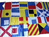 Brass Blessing : Naval Signal Flags/Flag Set- 100% Cotton - Set of Total 26 Flag - 15' X 15' - Marine/Nautical/Boat/Maritime (24)