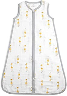 aden + anais Classic Sleeping Bag, 100% Cotton Muslin, Wearable Baby Blanket, Giraffes, Extra Large, 18+ Months, Aa7 Giraffes, X-Large