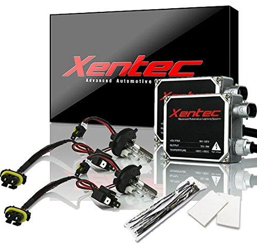 XENTEC 55W Standard Size Ballasts x 2 bundle with 2 x Xenon Bulb H4 Hi/Lo 6000K w/Hi-beam Halogen (HB2/9003 Ultra White) offroad