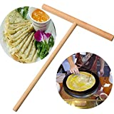 Aalborg125 T Shape Wooden Rack Spreader Pancake Egg Maker Crepes Omelette Pie Kitchen Accessories Tool