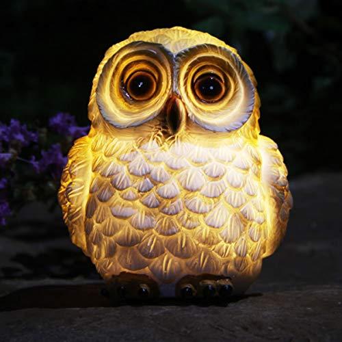 Outdoor Solar Animal Lights Owl Figurine Light LED Garden Statue Yard Art Decoration for Landscape Patio Backyard Decor Lawn Ornaments (Owl)