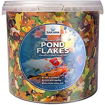Sakana Multi-Pond Flakes | Premium Quality Aquatic Fish Food Mixture | Perfectly Balanced, All-Round Daily Feed for Cold-Water Fish | Healthy, Easily Digestible & Great Source of Nutrients (10L)