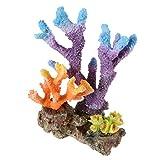LUOXUEFEI Adornos Decoraciones De Acuario Corales De Resina Tanque De Peces Cueva Montañas De Piedra para Acuario Adornos para Tanques De Peces Planta Artificial