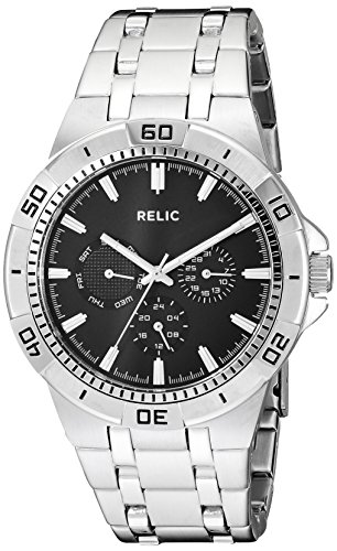 Relic by Fossil Men's Garrett Quartz Stainless Steel Sport Watch, Color: Silver (Model: ZR15709)