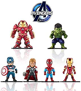 Marvel Avengers Titan Hero Series Exclusive-iron Man、Hulk、Thor、Spider-man、Captain America、Hulkbuster 6 Figure Set/Car decoration