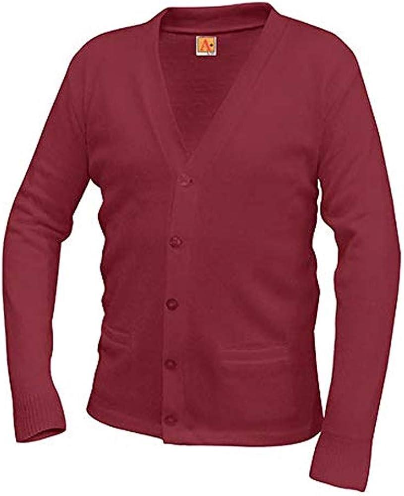 A-PLUS SUPPLY School Uniform Unisex V-Neck Cardigan Sweater