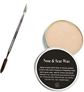 N Noble One Modeling Scar Wax with Double Ended Spatula for Special Effects, Theatrical Makeup Professional Modeling Putty/Wax for Special Effects prosthetics wounds Halloween Movies