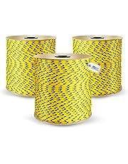 POLYPROPYLEENtouw GEEL polypropyleen touw touw touw PP gevlochten touw textieltouw touw touw touw touw touw touw kunststoftouw polytouw gevlochten, 3mm, 100 m.