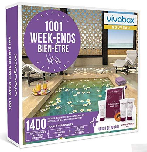 Vivabox - Coffret cadeau couple - 1001 WEEK-ENDS BIEN-ETRE - 1400 week-ends au choix + 1 kit de voyage