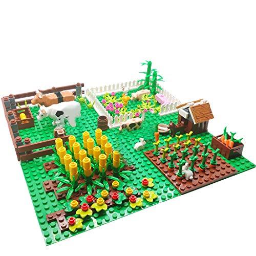 WANBAO Kids Toys Farm Animan Building Blocks Kit Granja de Ganado con Figuras y Placa Base Compatible con Lego Minifigures