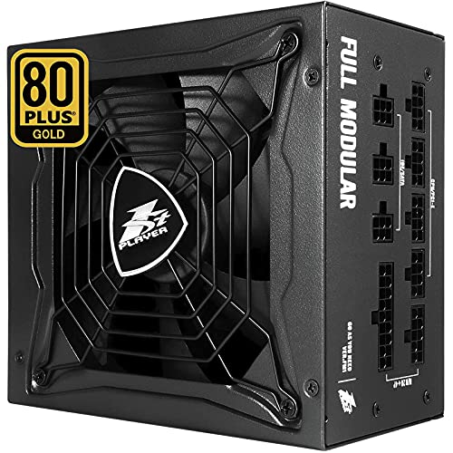 1STPLAYER 750W Gaming Power Supply,PC Power Supply,Fully Modular 80 Plus Gold Certified,PSU 750W Power Supply with 140mm Fan,10 Year Service Time ATX Power Supply,Japanese Capacitors