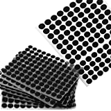 ASelected - 2000 pegatinas adhesivas redondas de 10 mm, con velcro pequeñas, color negro
