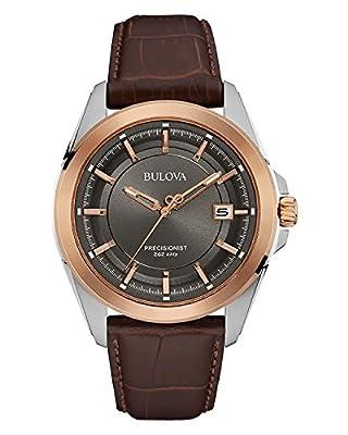 Bulova Precisionist - Reloj de Pulsera de Diseño para Hombre - Correa de cuero / Acero Inoxidable