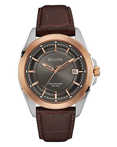 Bulova Reloj Analogico para Hombre de Cuarzo con Correa en Piel 98B267