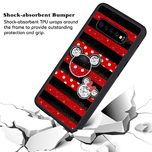 DISNEY COLLECTION Mickey Mouse Phone Cover for Samsung Galaxy S10+ Black Shockproof TPU and Hard PC Back Design