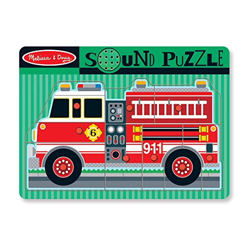 Melissa & Doug - 10731 - Puzzle Sonore - Camion De Pompiers