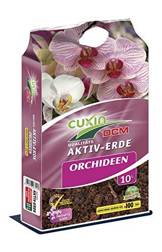 Cuxin Sparset Orchideenerde + Flüssigdünger ● zum Umtopfen Aller Orchideenarten ● Phalaenopsiserde zum Umtopfen ● grob (Orchideenerde 10 L + Dünger)