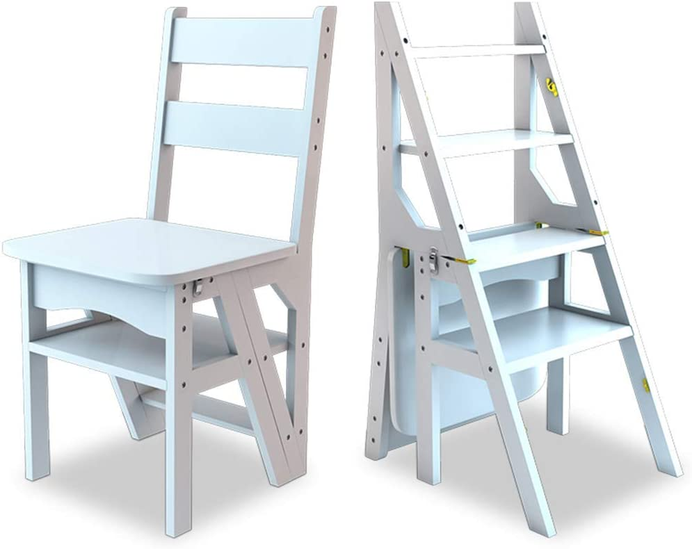 ZRABCD Free shipping anywhere in the nation Online limited product Ladders Step Ladder Home Wood Folding S Stools Solid