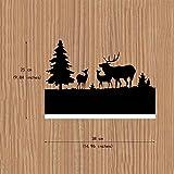 Altezza 45 cm argento silber Lampada a Parete Pajoma 44558 Motivo: Cervo legno