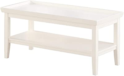 Convenience Concepts Ledgewood Coffee Table, White