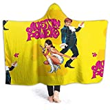 Yaxinduobao Hooded Manta Throw Austin Powers Super Soft Sherpa Fleece Manta Hood Poncho Cloak Cape