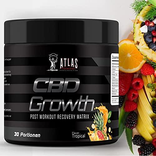 CBD Growth (Tropical) - Post Workout - Fuel Recovery Matrix | HOCHDOSIERT: CBD 600mg | Curcuma 95% | Glutamin | Vitamin C | Magnesium | Zink | Wasserlöslich