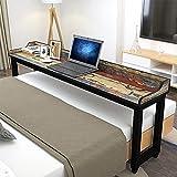 FFYUE Mesa Multifuncional Moble-Cross-Fides Table, Escritorio, con Deflector, Mesa De Comedor/Bar/Mesa De Dibujo/Mesa De Estudio, 120-240 Cm De Largo Opcional,Multi Colored,150CM