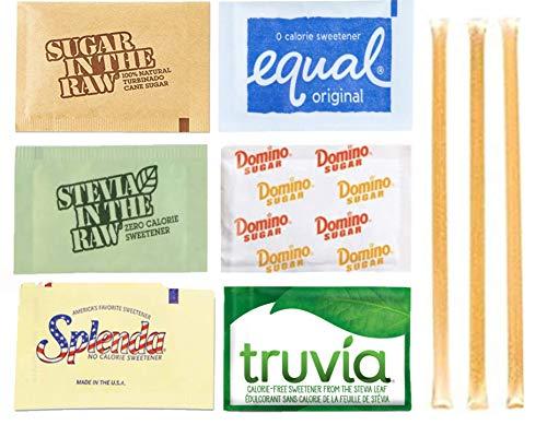 Sugar & Sweetener Packets, Assortment, 325 Count