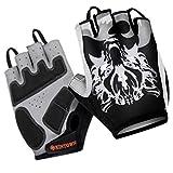 XINTOWN Ciclismo guantes-mitones manoplas media con fantasma lobo, color , tamaño XL