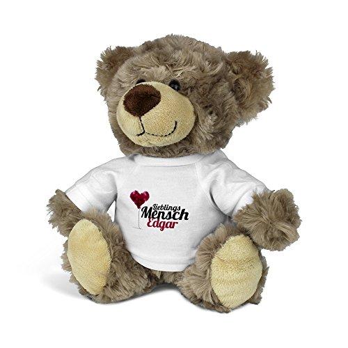 printplanet® Teddybär mit Namen Edgar - Kuscheltier Teddy mit Design Lieblingsmensch
