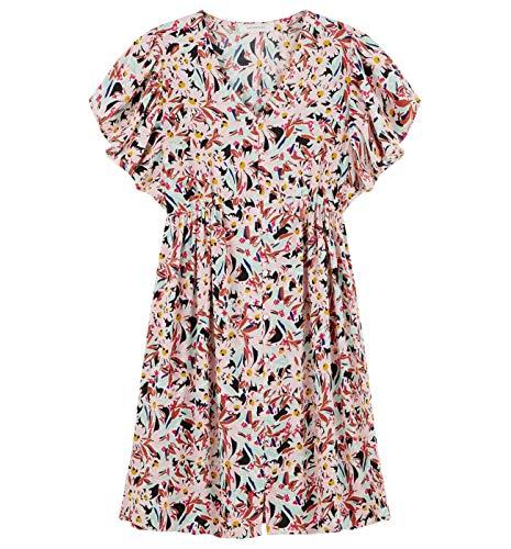 Promod Kleid aus fließendem Stoff Bunt Gemustert 38